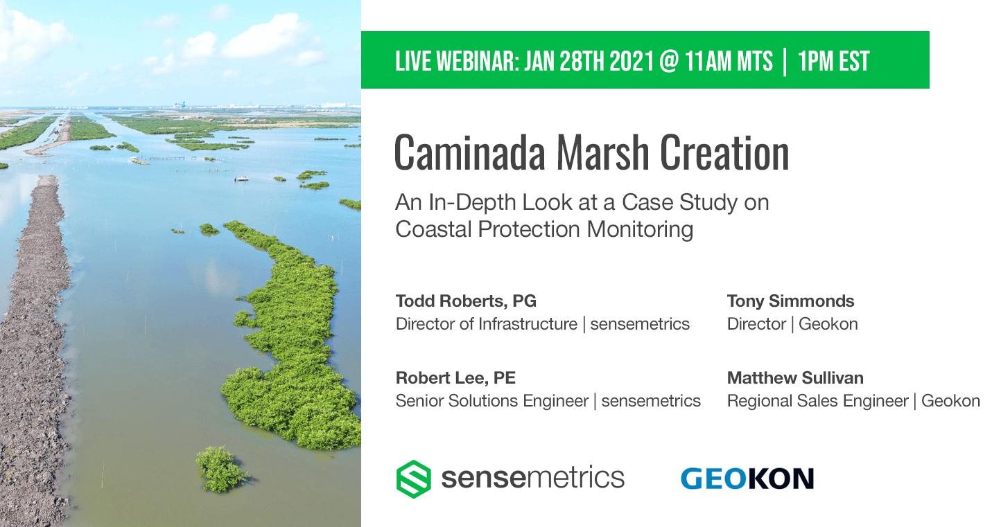 Live Webinar: Caminada Marsh Creation