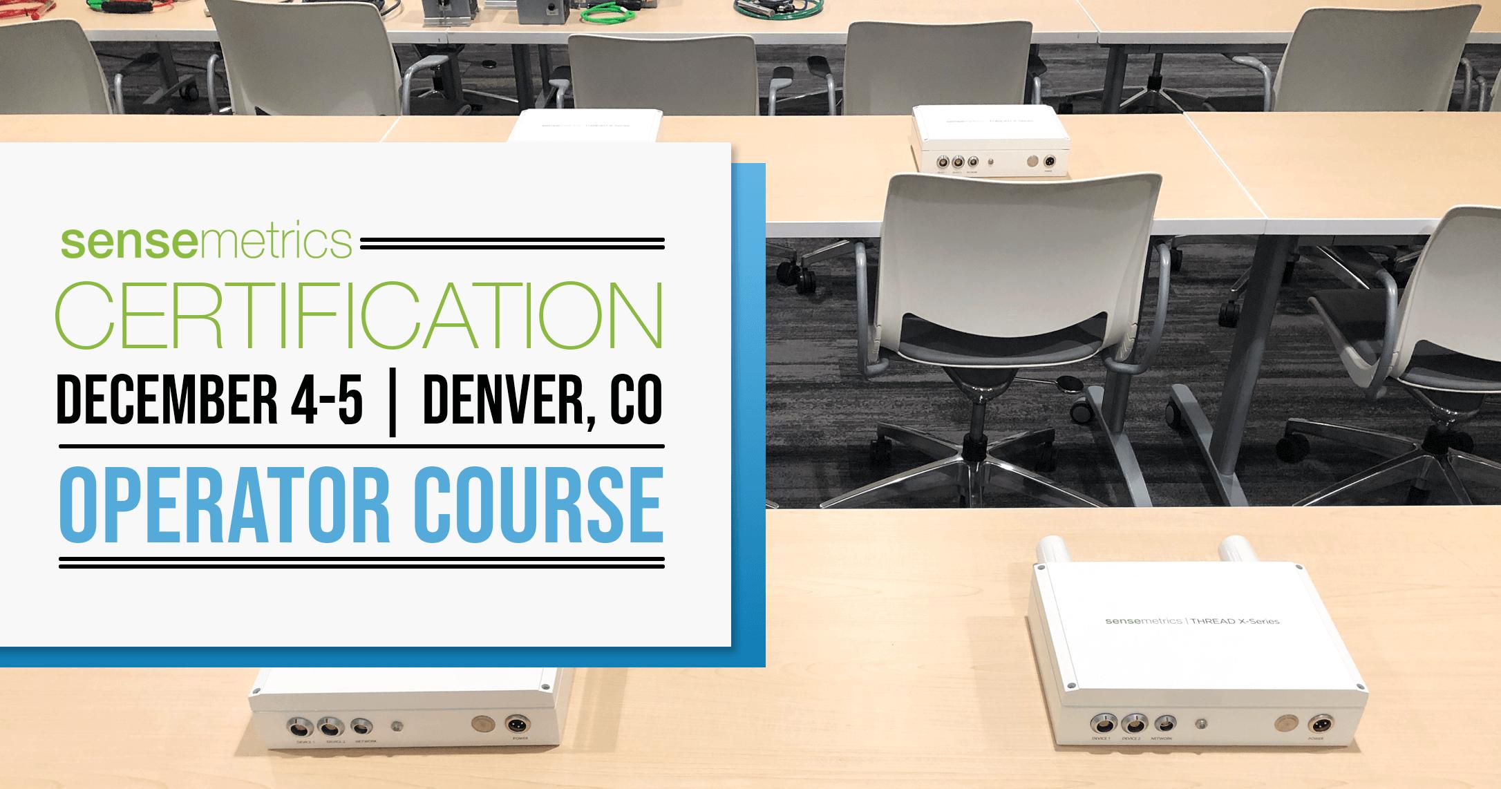 December Operator Course