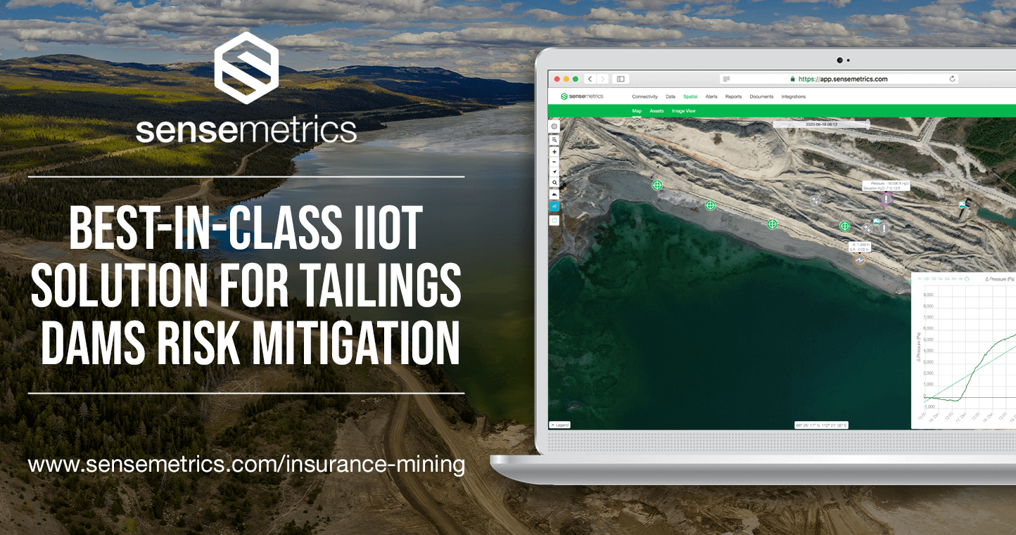 sensemetrics Launches Tailored IIoT Solution to Mitigate Risk for Mine Tailings Storage Facilities