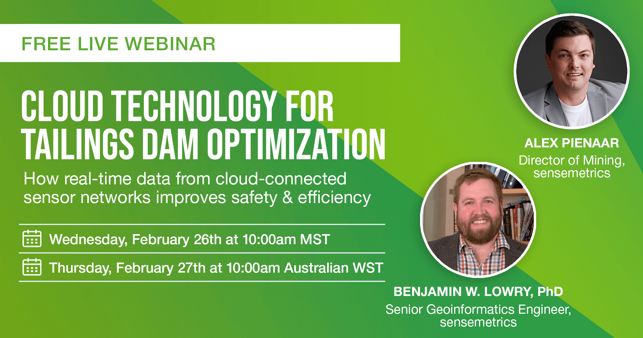 Live Webinar – Cloud Technology for Tailings Dam Optimization