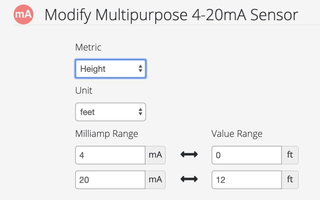 New Multipurpose 4-20mA Sensor Support