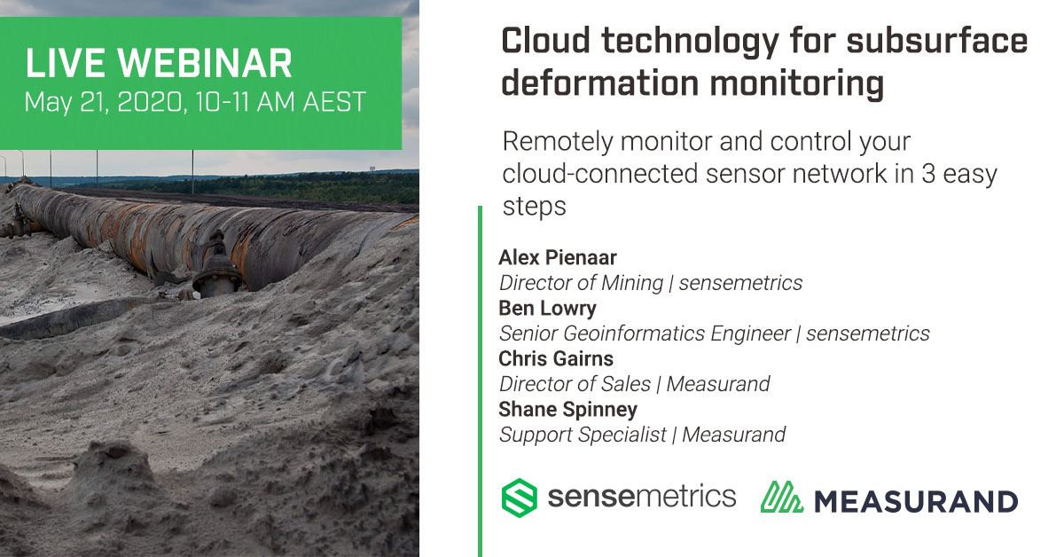 Webinar: Cloud Technology for Subsurface Deformation Monitoring