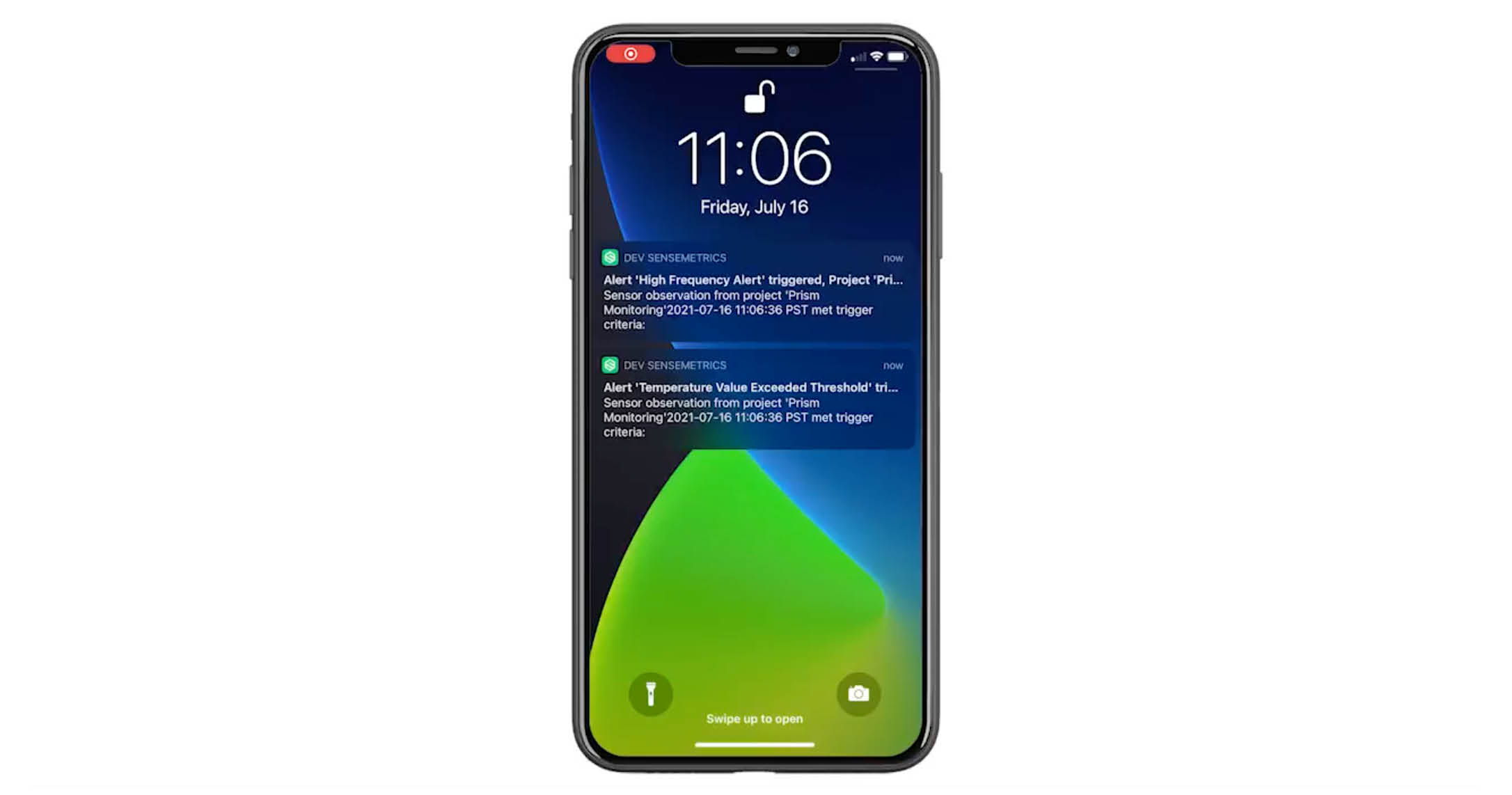 Mobile App: Alert Notification